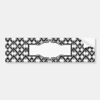 Black and White Chevron Monogram Bumper Sticker