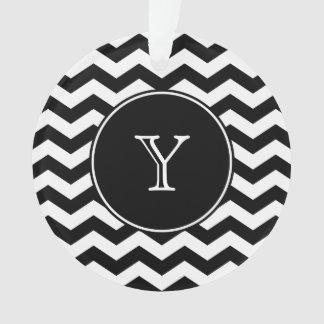 Black and White Chevron Monogrammed