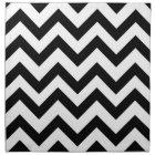 Black and white chevron napkin