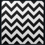 "Black and white chevron napkin<br><div class=""desc"">Black and white chevron napkin</div>"