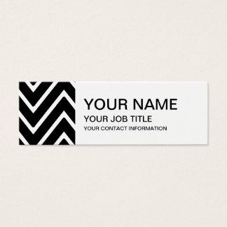 Black and White Chevron Pattern 2 Mini Business Card