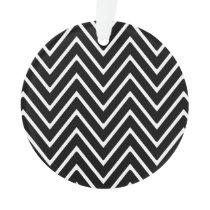 Black and White Chevron Pattern 2 Ornament