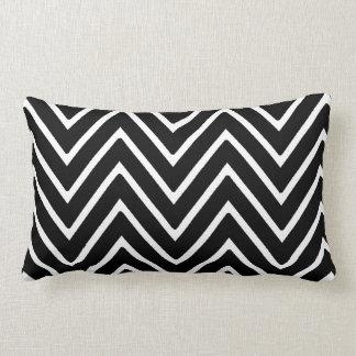 Black and White Chevron Pattern 2 Pillow