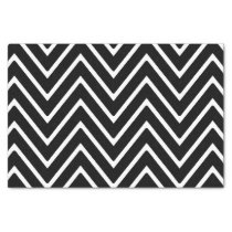 Black and White Chevron Pattern 2 Tissue Paper