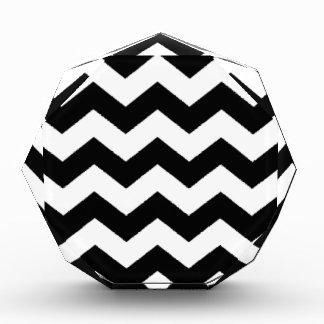 Black and White Chevron Pattern Award
