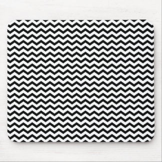 Black and White Chevron pattern background Mouse Pad