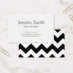 Black And White Chevron Pattern Business Card at Zazzle