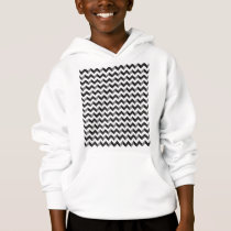 Black and White Chevron Pattern Hoodie