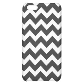 Black and White Chevron Pattern iPhone 5C Cases