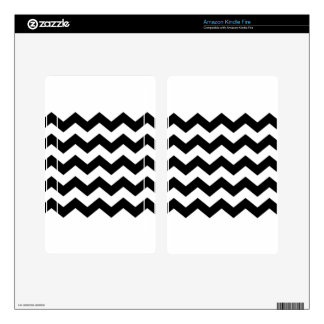 Black and White Chevron Pattern Kindle Fire Skins