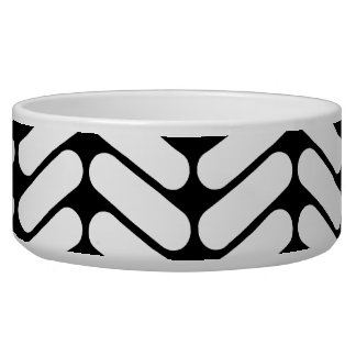 Black and White Chevron Pattern, Like Knitting. Bowl