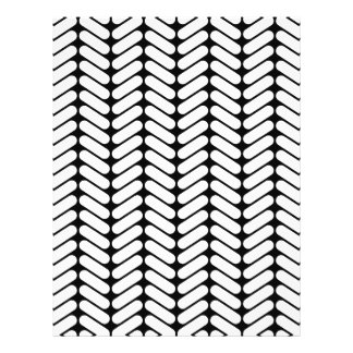 Black and White Chevron Pattern, Like Knitting. Flyer