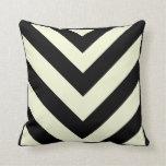 Black and White Chevron Pattern Pillows