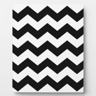 Black and White Chevron Pattern Plaque
