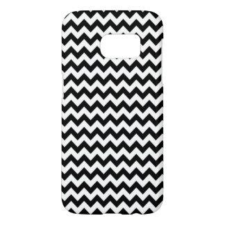 Black and White Chevron Pattern Samsung Galaxy S7 Case