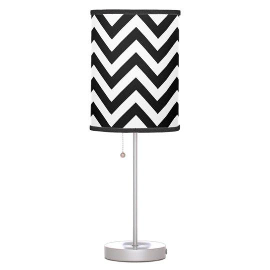 Black And White Chevron Pattern Table Lamps Zazzle Com