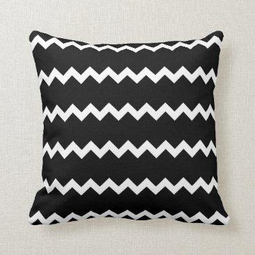 USA Themed Black and White Chevron Pillow