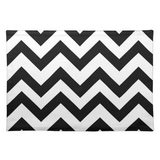 Black and white chevron placemat cloth place mat