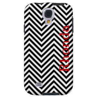Black and White Chevron Samsung Galaxy S4 Case