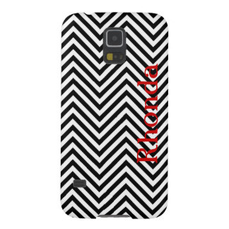 Black and White Chevron Samsung Galaxy S5 Case