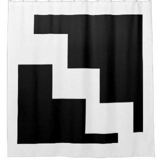 Black And White Chevron Shower Curtains | Zazzle
