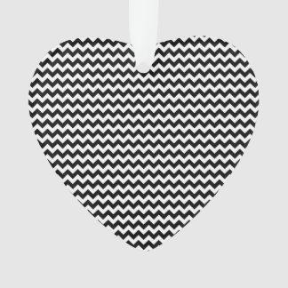 Black and White Chevron Stripe Ornament