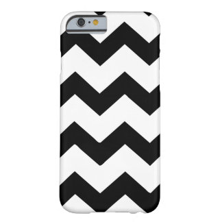 Black and white chevron stripes barely there iPhone 6 case