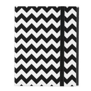 Black And White Chevron Traditional Pattern Ipad Folio Case at Zazzle
