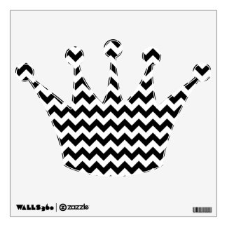 Black and White Chevron Wall Decal