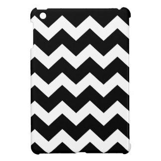 Black and white chevron  zig zag pattern iPad mini cases