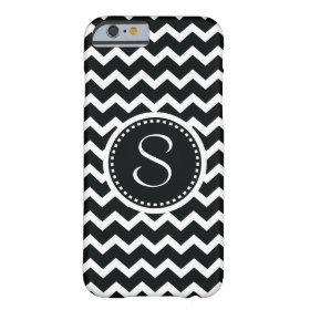 Black and White Chevron Zig Zag Retro Elegance Barely There iPhone 6 Case