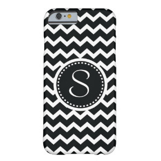 Black and White Chevron Zig Zag Retro Elegance Barely There iPhone 6 Case