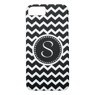 Black and White Chevron Zig Zag Retro Elegance iPhone 7 Case