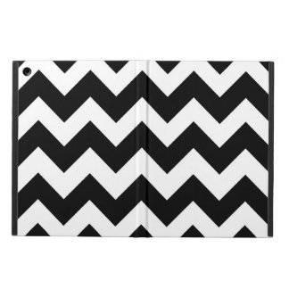 Black and White Chevron Zigzag Pattern Case For iPad Air