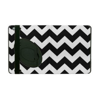 Black and White Chevron Zigzag Pattern iPad Case