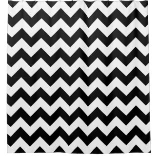Black and White Chevron Zigzag Shower Curtains
