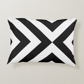 Black and White Chevrons Accent Pillow