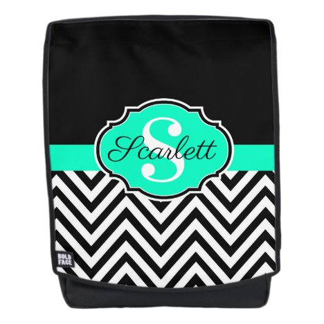 Black and White Chevrons Backpack