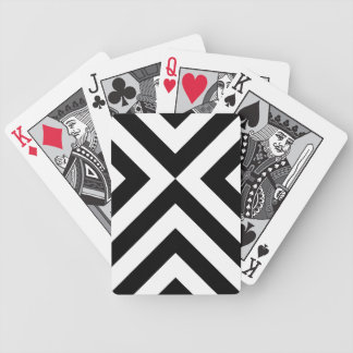 Black and White Chevrons Bicycle Playing Cards