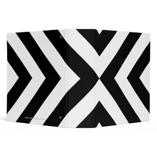 Black and White Chevrons 3 Ring Binders