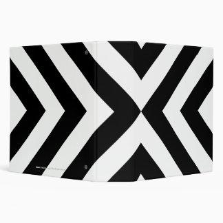 Black and White Chevrons Binder