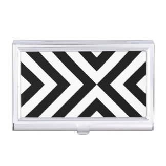 Black and White Chevrons Business Card Case