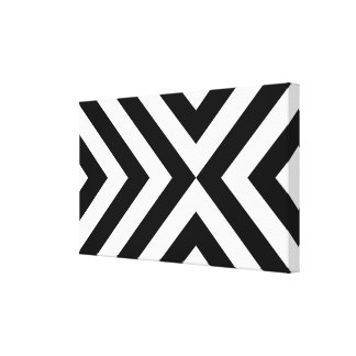 Black and White Chevrons Canvas Print