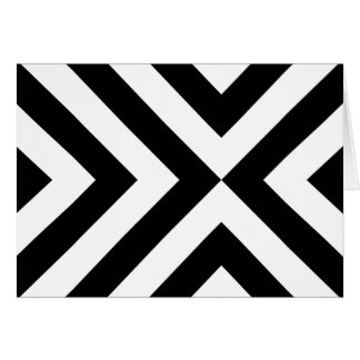 Black and White Chevrons Card