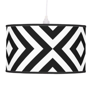 Black and White Chevrons Ceiling Lamp
