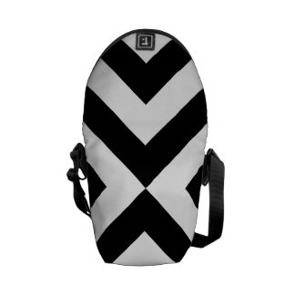 Black and White Chevrons Courier Bags