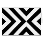 Black and White Chevrons Greeting Card