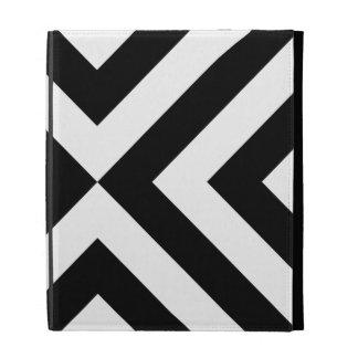 Black and White Chevrons iPad Cases