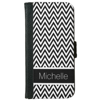 Black and White Chevrons iPhone 6 Wallet Case