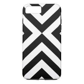 Black and White Chevrons iPhone 7 Plus Tough Case